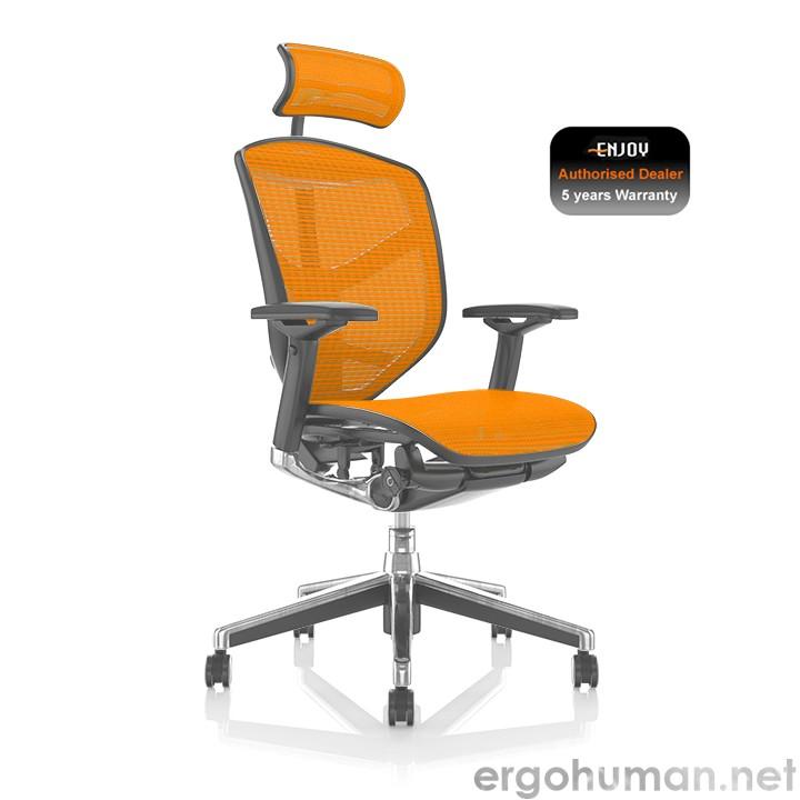 Enjoy Orange Mesh office Chair