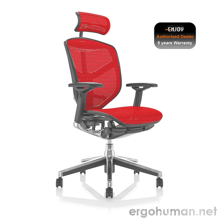 Enjoy Red Mesh office Chair